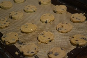 pre-baked chocolate chip cookie dough