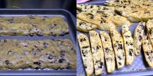 oreo biscotti before being baked